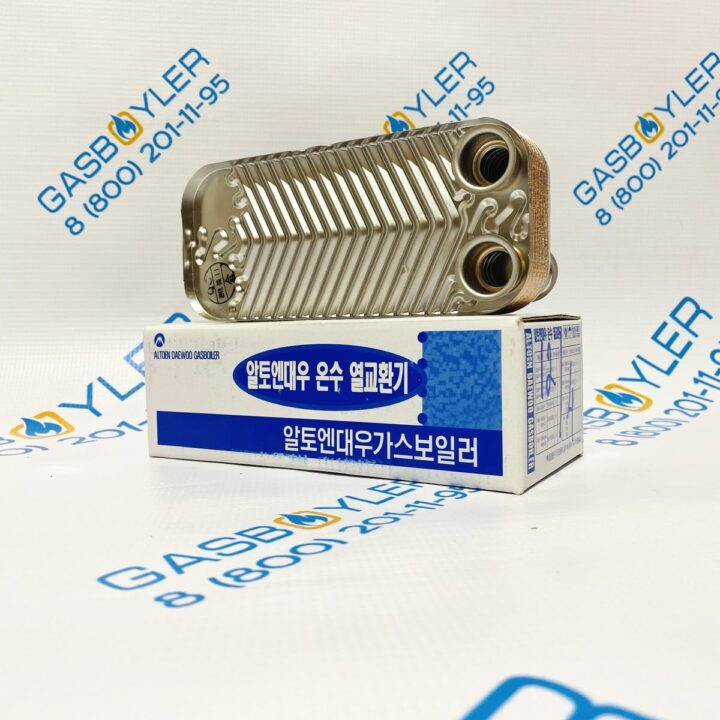 Теплообменник ГВС 12 fin для котлов Daewoo Gasboiler 100/130/160/200 MSC/MCF