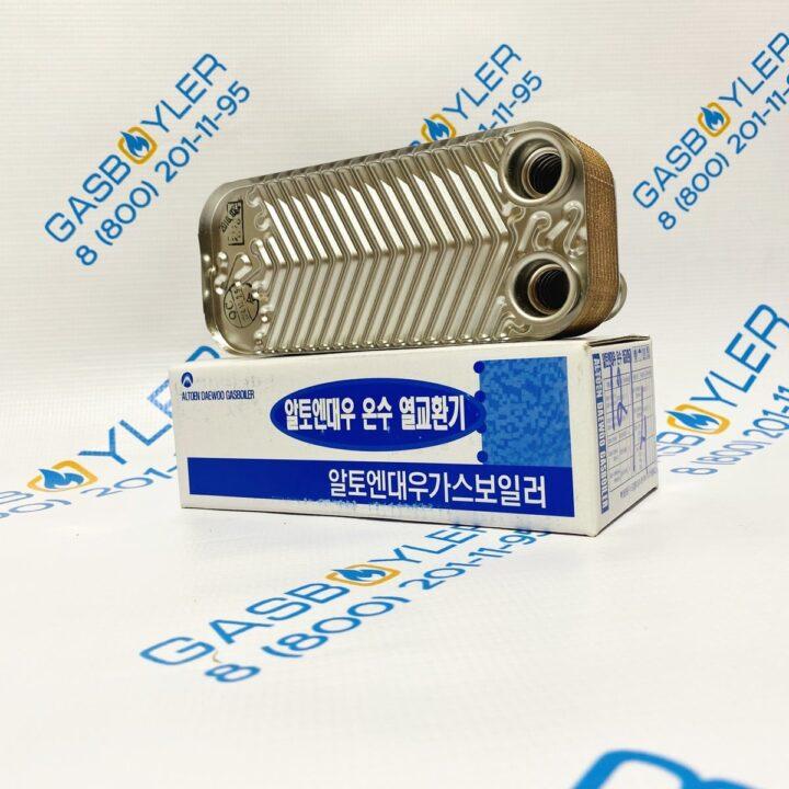 Теплообменник ГВС 16 fin для котлов Daewoo Gasboiler 250-300 MSC и 200-250 MCF
