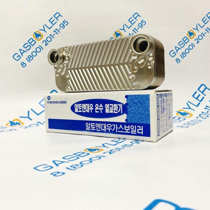 Теплообменник ГВС 18 fin для котлов Daewoo Gasboiler 350-400 MSC