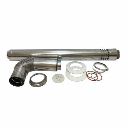 Коаксиальный дымоход DGB-80C 110/80 1-2 м. (тип ЕВРО) для котлов Daewoo Gasboiler
