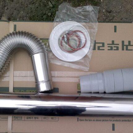 Коаксиальный дымоход DAEWOO DGB-80L 110/80 CO-AXIAL (корейский тип) 1000-2000 мм. для котлов ДЭУ KFC