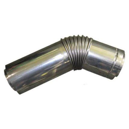 Колено коаксильное 45° 80/110 мм. для котлов Daewoo Gasboiler